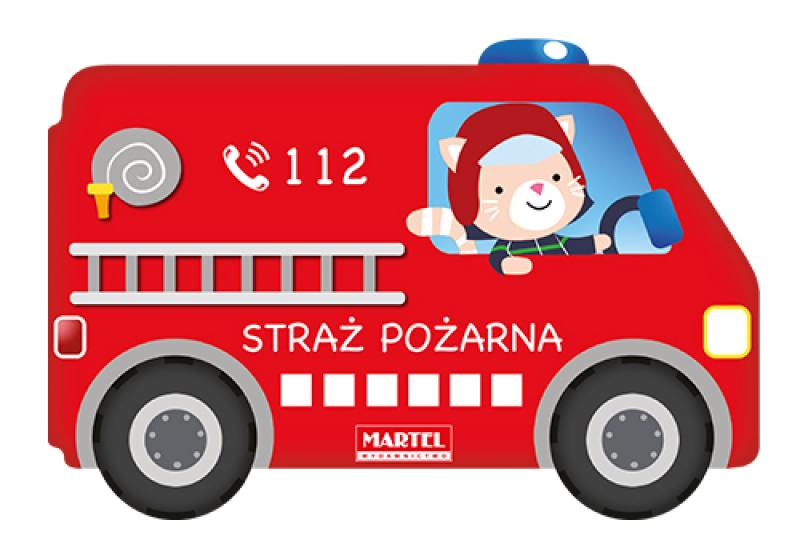 Samochodzik Kartonowy Straż Pożarna Wydawnictwo Martel